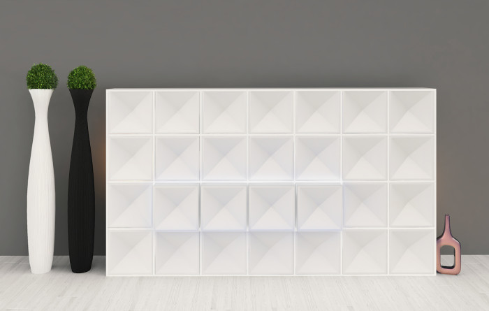 Edge bookcase WHITE closed
