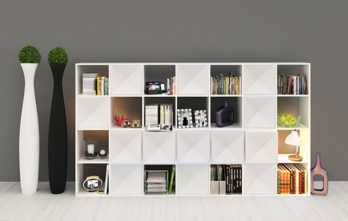 Edge bookcase WHITE mix